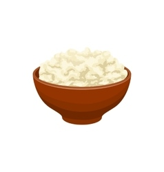 Cottage cheese icon cartoon style vector image