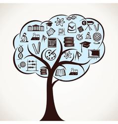 educational icon tree stock vector image