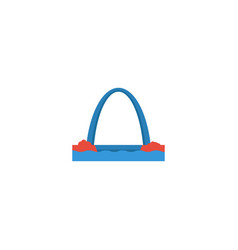 flat icon gateway arch element vector image