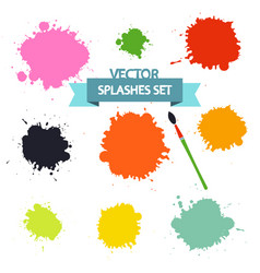 splashes set isolated on white background flat vector image