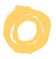 yellow brushstroke circle form vector image vector image