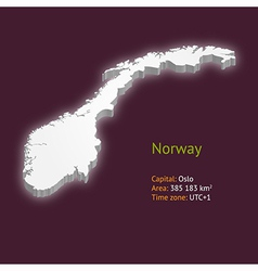 3d map of norway vector