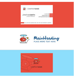 beautiful helicopter ambulance logo and business vector image
