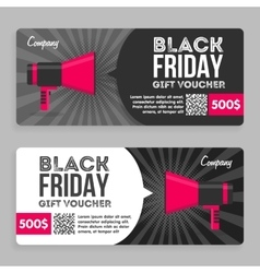 Black Friday Gift Voucher Flat Design vector