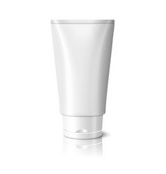 Blank white realistic tube for cosmetics cream vector