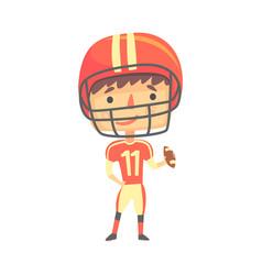 Boy american football player kids future dream vector