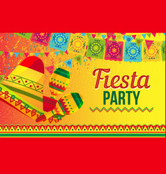 Bright poster for fiesta party promotion vector