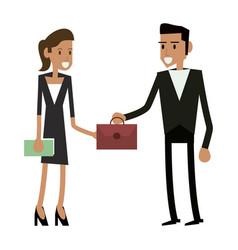 business teamwork executive vector image