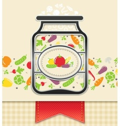 can with canned vegetables vector image