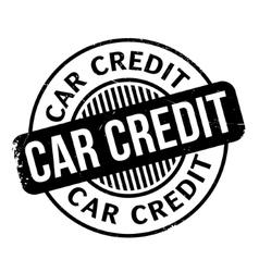 Car Credit rubber stamp vector