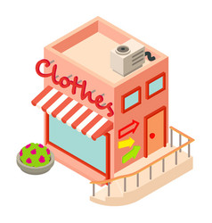 Clothes shop icon isometric style vector
