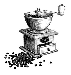 coffee mill hand drawn vector image