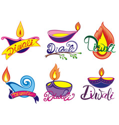 diwali symbols vector image
