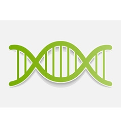 DNA molecule sticker Design element vector