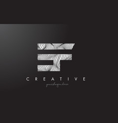 Ef e f letter logo with zebra lines texture vector