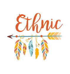 Ethnic boho style element print hipster fashion vector