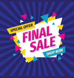 final sale concept banner template design vector image