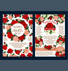 flower wreath spring blossom greeting banner vector image