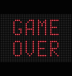 Game over message vector