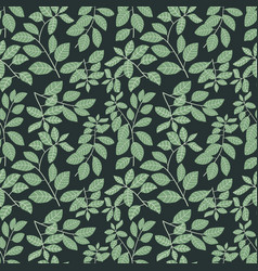 green leaves patterntropical background vector image