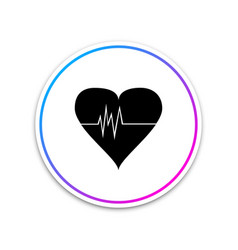 heart rate icon heartbeat sign heart pulse icon vector image