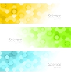 hexagons banners vector image