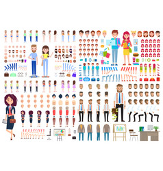Huge set game characters diy kit collection vector