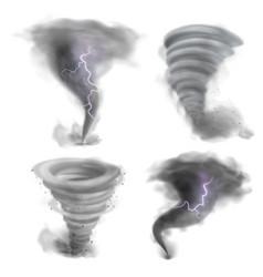 Hurricane vortex realistic tornado 3d twister vector