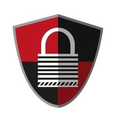 Isolated padlock inside shield design vector
