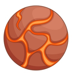 Jupiter planet icon cartoon style vector