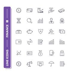 Line icons set finance vector