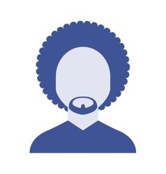 man male avatar line icon vector image