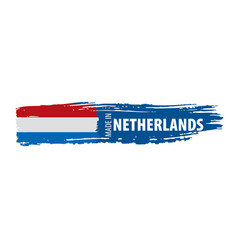 Netherlands flag on a white vector