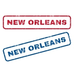 New Orleans Rubber Stamps vector image