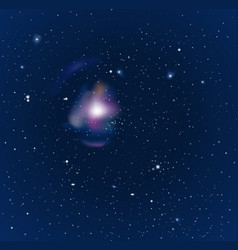 Night starry sky vector