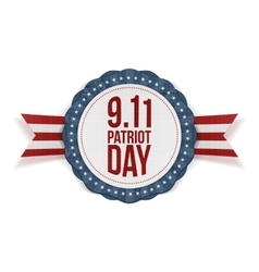 Patriot Day circle Banner with Ribbon vector image