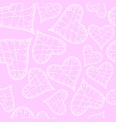 pattern with hand drawn hearts for fabric vector image