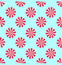 Peppermints candies cream seamless pattern red vector