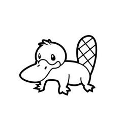 Platypus line vector