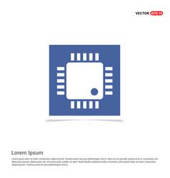 processor icon - blue photo frame vector image