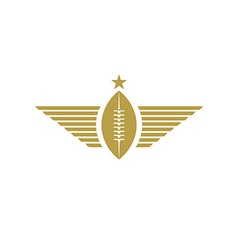 Rugby ball with wings icon american football vector image