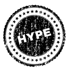 Scratched textured hype stamp seal vector