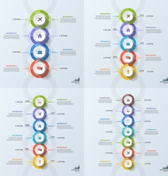Set of timeline business vertical infographic vector