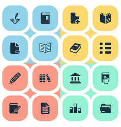 Set simple reading icons vector