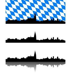 Silhouette of regensburg bavaria vector