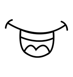 smile mouth drawn isolated icon vector image