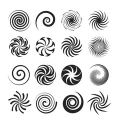 spirals and liquid twirls vector image