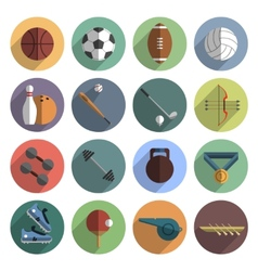 Sport icons set shadow flat vector image