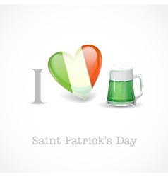 St Patricks Day I Love Beer vector image