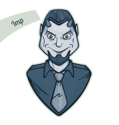 Sticker Imp vector image